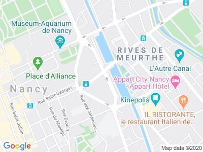 Plan Google Stage recuperation de points à Nancy proche de Vandoeuvre-lès-Nancy