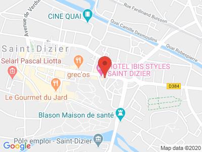Plan Google Stage recuperation de points à Saint-Dizier proche de Chaumont