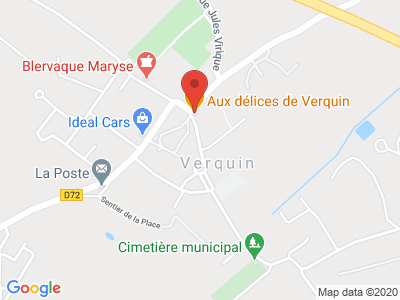 Plan Google Stage recuperation de points à Verquin proche de Béthune
