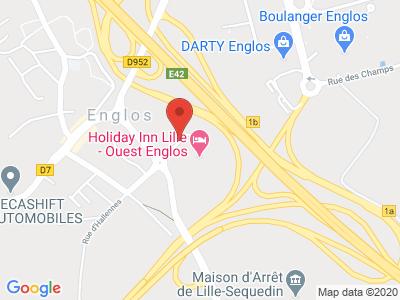 Plan Google Stage recuperation de points à Englos proche de Fretin