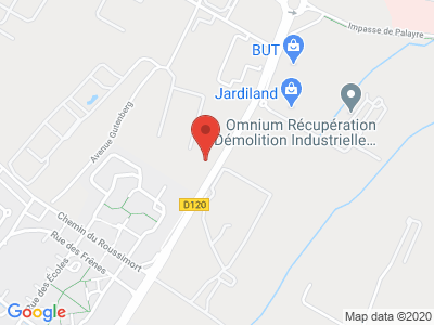 Plan Google Stage recuperation de points à Portet-sur-Garonne proche de Martres-Tolosane
