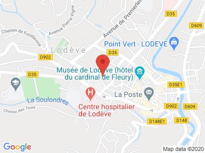 Plan Google Stage recuperation de points à Lodève proche de Clermont-l'Hérault