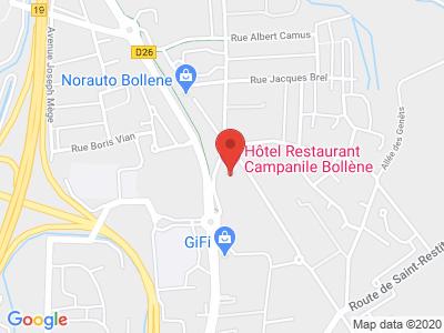 Plan Google Stage recuperation de points à Bollène proche de Orange