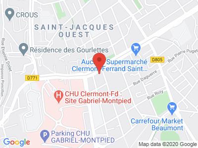Plan Google Stage recuperation de points à Clermont-Ferrand proche de Issoire