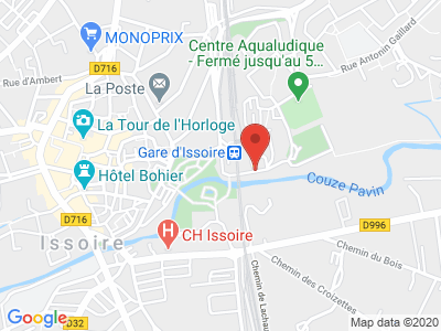 Plan Google Stage recuperation de points à Issoire proche de Saint-Flour