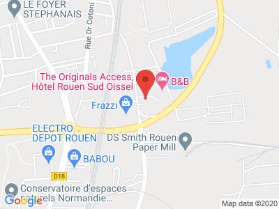 Plan Google Stage recuperation de points à Saint-Étienne-du-Rouvray proche de Louviers