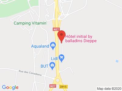 Plan Google Stage recuperation de points à Saint-Aubin-sur-Scie proche de Dieppe