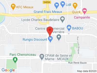 Plan Google Stage recuperation de points à Meaux proche de Montévrain