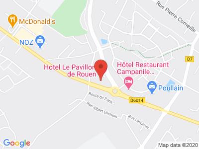 Plan Google Stage recuperation de points à Franqueville-Saint-Pierre proche de Louviers