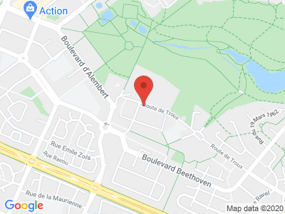 Plan Google Stage recuperation de points à Guyancourt proche de Montigny-le-Bretonneux