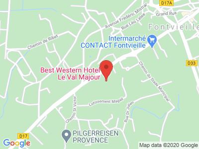 Plan Google Stage recuperation de points à Fontvieille proche de La Penne-sur-Huveaune