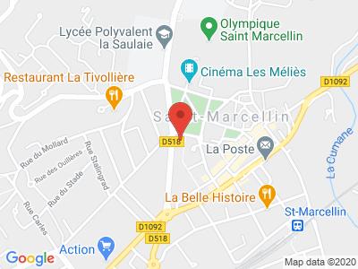 Plan Google Stage recuperation de points à Saint-Marcellin