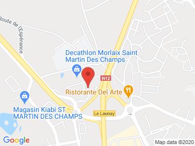 Plan Google Stage recuperation de points à Saint-Martin-des-Champs proche de Morlaix