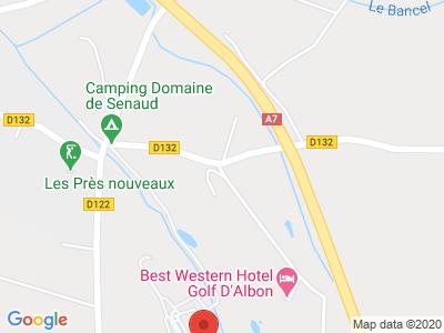 Plan Google Stage recuperation de points à Albon proche de Annonay