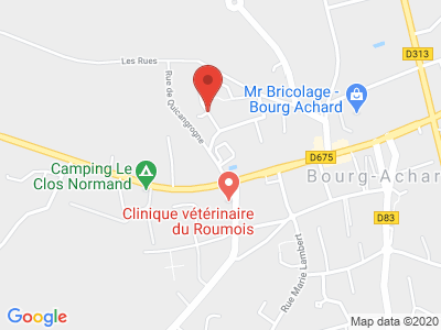 Plan Google Stage recuperation de points à Bourg-Achard proche de Yvetot