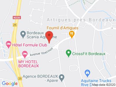 Plan Google Stage recuperation de points à Artigues-près-Bordeaux