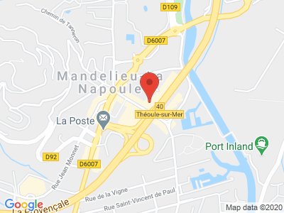 Plan Google Stage recuperation de points à Mandelieu-la-Napoule proche de Cannes
