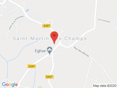 Plan Google Stage recuperation de points à Avranches proche de Villedieu-les-Poêles