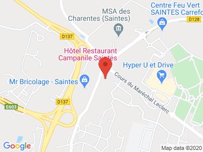 Plan Google Stage recuperation de points à Saintes