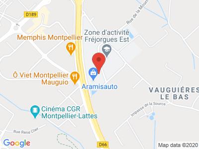 Plan Google Stage recuperation de points à Mauguio proche de Gallargues-le-Montueux