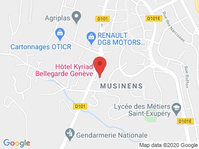 Plan Google Stage recuperation de points à Châtillon-en-Michaille