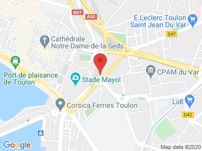 Plan Google Stage recuperation de points à Toulon