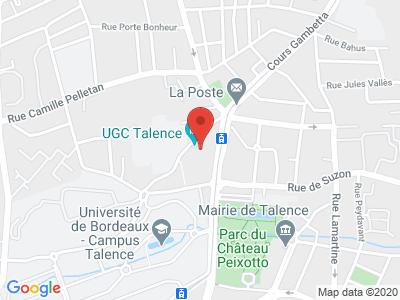 Plan Google Stage recuperation de points à Talence proche de Bordeaux