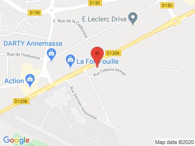 Plan Google Stage recuperation de points à Annemasse proche de Saint-Genis-Pouilly