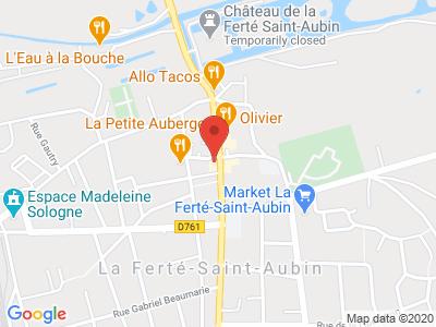 Plan Google Stage recuperation de points à La Ferté-Saint-Aubin proche de Beaugency