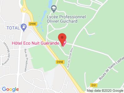 Plan Google Stage recuperation de points à Guérande proche de Saint-Nazaire