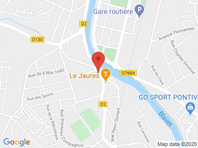 Plan Google Stage recuperation de points à Pontivy proche de Loudéac