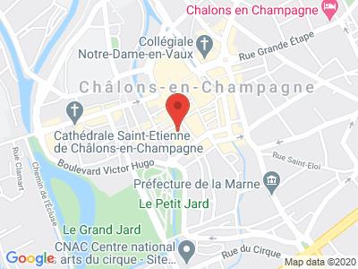 Plan Google Stage recuperation de points à Châlons-en-Champagne proche de Saint-Dizier