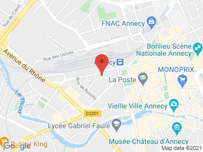 Plan Google Stage recuperation de points à Annecy proche de Cran-Gevrier