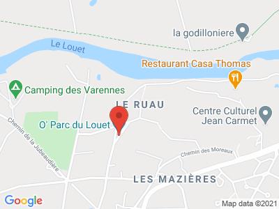 Plan Google Stage recuperation de points à Mûrs-Erigné proche de Saumur