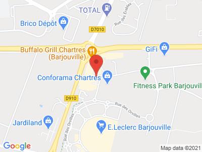 Plan Google Stage recuperation de points à Barjouville proche de Chartres