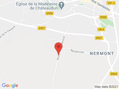 Plan Google Stage recuperation de points à Châteaudun proche de Nogent-le-Rotrou