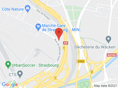 Plan Google Stage recuperation de points à Strasbourg