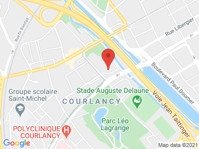 Plan Google Stage recuperation de points à Reims proche de Saint-Brice-Courcelles