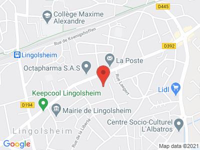Plan Google Stage recuperation de points à Lingolsheim proche de Strasbourg