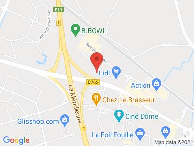 Plan Google Stage recuperation de points à Clermont-Ferrand