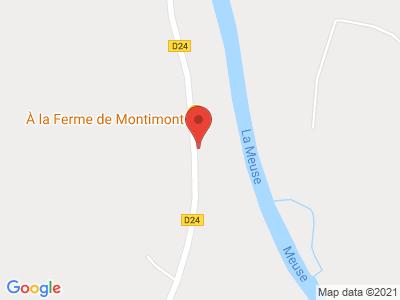 Plan Google Stage recuperation de points à Donchery proche de Charleville-Mézières