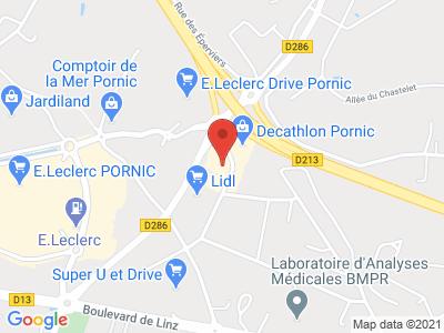 Plan Google Stage recuperation de points à Pornic proche de Saint-Nazaire