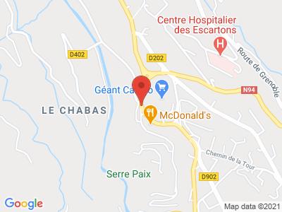 Plan Google Stage recuperation de points à Briançon proche de Gap