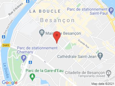 Plan Google Stage recuperation de points à Besançon