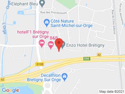 Plan Google Stage recuperation de points à Brétigny-sur-Orge proche de Arpajon