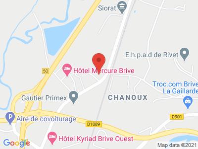 Plan Google Stage recuperation de points à Ussac proche de Brive-la-Gaillarde