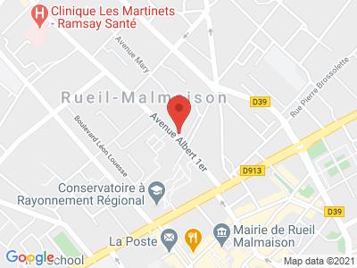 Plan Google Stage recuperation de points à Rueil-Malmaison proche de Nanterre