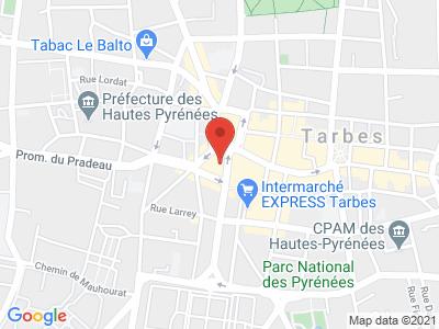 Plan Google Stage recuperation de points à Tarbes proche de Saint-Gaudens