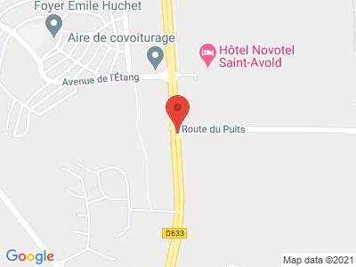 Plan Google Stage recuperation de points à Saint-Avold proche de Hambach
