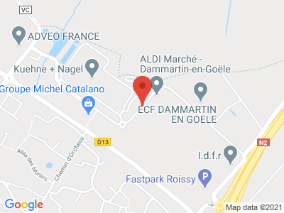 Plan Google Stage recuperation de points à Dammartin-en-Goële proche de Crépy-en-Valois